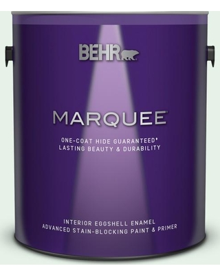 BEHR MARQUEE 1 gal. #470C-1 Mint Fizz Eggshell Enamel Interior Paint and Primer in One