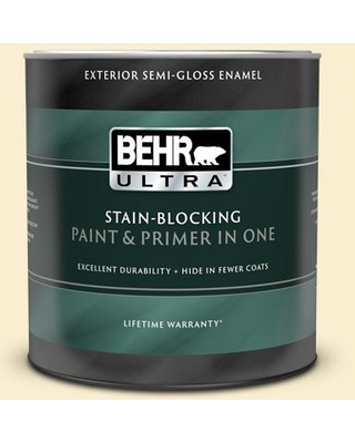 BEHR ULTRA 1 qt. #360A-2 Morning Sunlight Semi-Gloss Enamel Exterior Paint and Primer in One