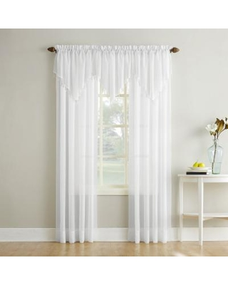 No 918 Erica Crushed Sheer Voile Window Curtain, White