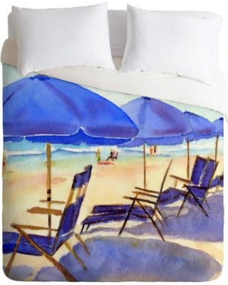 East Urban Home Beach Chairs By Laura Trevey Lightweight Duvet Cover Ehme1529 Size King