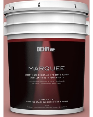 BEHR MARQUEE 5 gal. #S150-4 Red Clover Flat Exterior Paint and Primer in One