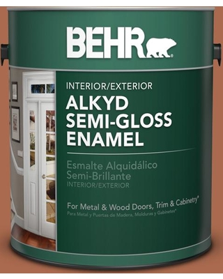 BEHR 1 gal. #BIC-45 Airbrushed Copper Urethane Alkyd Semi-Gloss Enamel Interior/Exterior Paint
