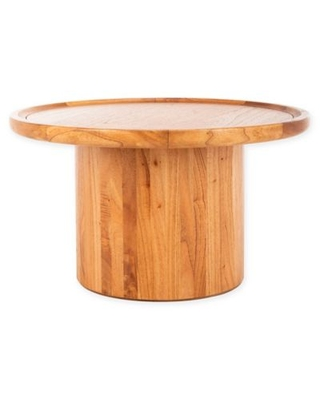 Safavieh Devin Round Wooden Coffee Table in Natural Brown