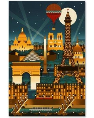 """Ebern Designs 'Travel 130' Graphic Art Print on Wrapped Canvas EBND3101 Size: 19"""" H x 12"""" W x 2"""" D"""