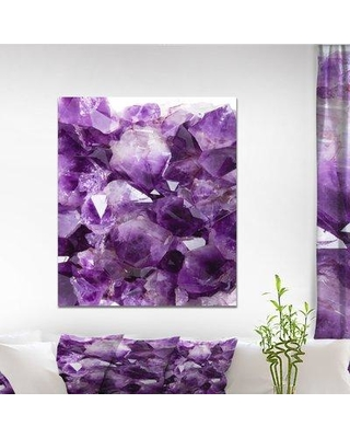 """East Urban Home Stone 'Purple Amethyst' Graphic Art Print on Wrapped Canvas ETUC0391 Size: 40"""" H x 30"""" W x 1.5"""" D"""