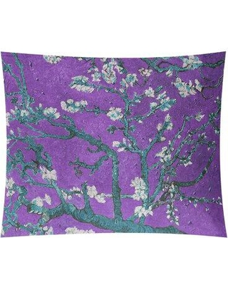 "World Menagerie Almond Blossom Tapestry W001475211 Size: 27.5"" H x 37.5"" W Location: Indoor/Outdoor"
