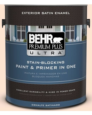 BEHR Premium Plus Ultra 1 gal. #280C-1 Champagne Ice Satin Enamel Exterior Paint and Primer in One