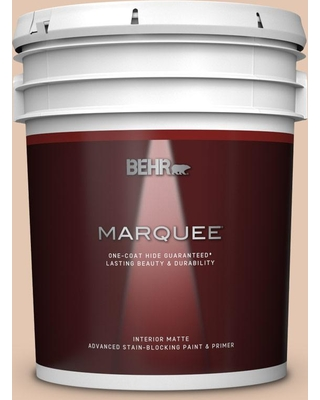 BEHR MARQUEE 5 gal. #S230-2 Mesquite Powder Matte Interior Paint and Primer in One