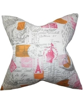 Darby Home Co Ginsberg Typography Cotton Throw Pillow Cover DRBC1523 Color: Pink