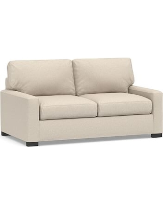 Turner Square Arm Upholstered Deluxe Sleeper Sofa without Nailheads, Polyester Wrapped Cushions, Textured Twill Khaki