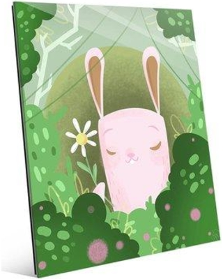 """Click Wall Art 'Flower from Bunny' Graphic Art on Plaque KDG0000200ACR Size: 20"""" H x 16"""" W x 1"""" D"""