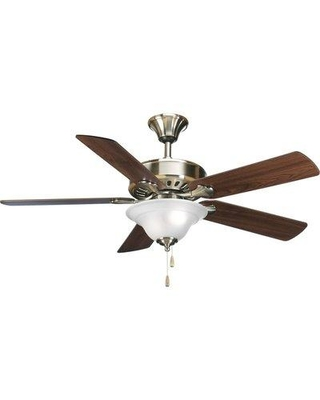 """Alcott Hill 52"""" Covington 5-Blade Ceiling Fan ALTH4336 Finish: Brushed Nickel with Cherry / Natural Cherry Blades"""