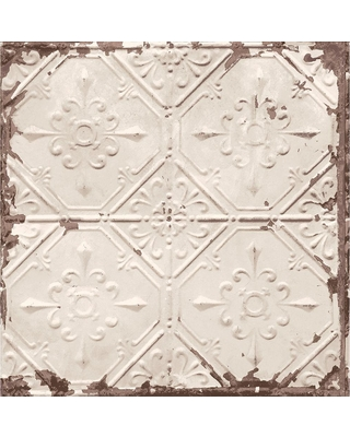 Brewster Beige Tin Ceiling Distressed Tiles Wallpaper