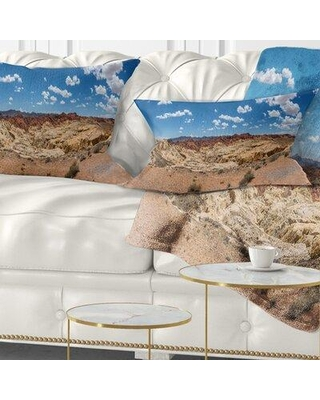 East Urban Home Valley of Fire Landscape Panorama Lumbar Pillow VSIF9648
