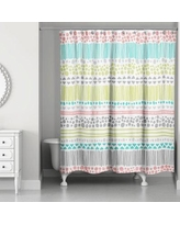 Latitude Run Prieto Pastel Pattern Shower Curtain LTTN1826