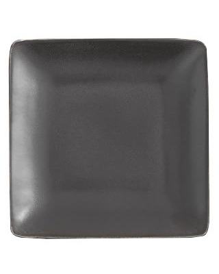 Mason Square Salad Plate, Set of 4 - Charcoal