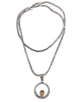 Artisan Crafted Citrine and Sterling Silver Pendant Necklace