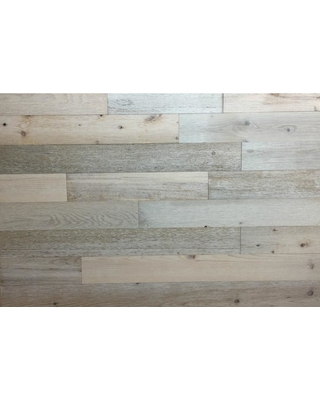 Timberchic 1/8 in. x 3 in. x 12-42 in. Peel and Stick White Wooden Decorative Wall Paneling (10 sq. ft./Box)