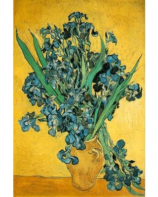 "Buy Art For Less 'Les Iris' by Van Gogh Painting Print on Wrapped Canvas 36307C Size: 24"" H x 16"" W x 1.5"" D"