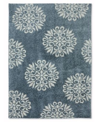 Mohawk Home Huxley Exploded Medallions 5-Foot x 7-Foot Area Rug in Bay Blue