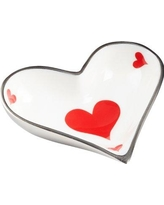 Cyan Design Heart Card Decorative Accent Tray 08940