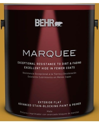 BEHR MARQUEE 1 gal. #M290-7 Turmeric (Red) Flat Exterior Paint and Primer in One