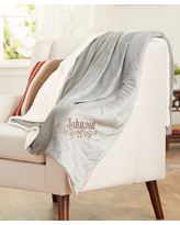 GiftsForYouNow Throws grey - Gray Personalized Sherpa Throw