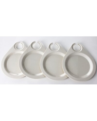 Eco Bamboo Wine Party Plates Yumi Eco Solutions Color: White
