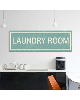 """East Urban Home 'Laundry Room' By PI Studio Graphic Art Print on Wrapped Canvas ETRC5732 Size: 16"""" H x 48"""" W x 1.5"""" D"""