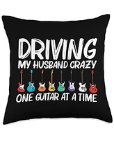 Best Guitar Player Instrument Musician Accessories Cool Guitar Gift For Women Mom Acoustic Guitarist Band Music Throw Pillow, 18x18, Multicolor