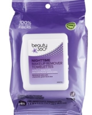 Beauty 360 Night-Time Cleansing and Makeup Remover Towelettes, 25 ct | CVS