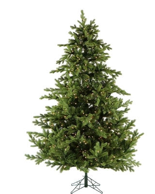 Fraser Hill Farm 7.5' Pre-lit Foxtail Pine Christmas Tree with Smart String Lighting (Green)