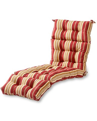 Roma Stripe Stripe 72 x 22 in. Outdoor Chaise Lounge Cushion