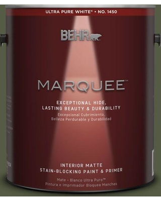 BEHR MARQUEE 1 gal. #MQ6-54 River Forest One-Coat Hide Matte Interior Paint and Primer in One
