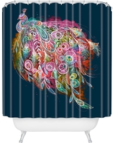 "Stephanie Corfee Tail Feather Shower Curtain (71""x74"") Navy - Deny Designs, Classic Navy"