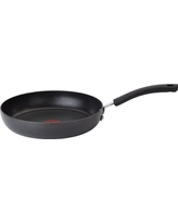 T-fal E76505 Ultimate Hard Anodized Scratch Resistant Titanium Nonstick Thermo-Spot Heat Indicator Anti-Warp Base Dishwasher Safe Oven Safe PFOA Free Saute / Fry Pan Cookware, 10-Inch, Gray
