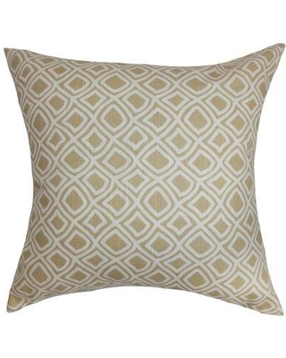"""The Pillow Collection Cacia Geometric Cotton Throw Pillow Cover P Size: 20"""" x 20"""" Color: Neutral"""