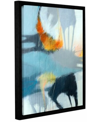 """'Shadows' Framed Graphic Art Print on Canvas Wrought Studio™ Size: 48"""" H x 36"""" W x 2"""" D"""