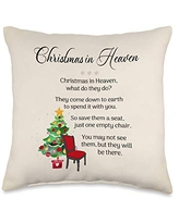 Wild Honey Collections Christmas in Heaven Poem Throw Pillow, 16x16, Multicolor