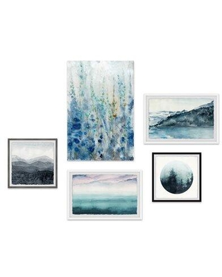 Brayden Studio® 'Quintessential Life Pentaptych' - 5 Piece Gallary Wall Print Set on Canvas CG323655