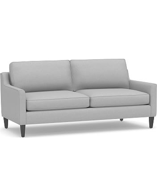 """Beverly Upholstered Sofa 80"""", Polyester Wrapped Cushions, Brushed Crossweave Light Gray"""