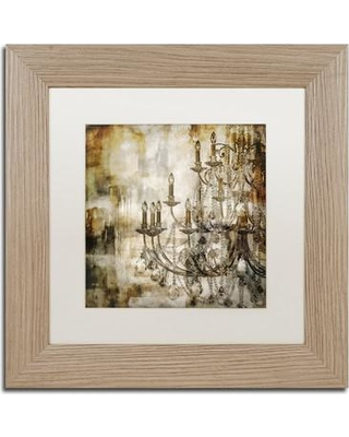 """Trademark Fine Art 'Lumi'res II' by Color Bakery Framed Painting Print ALI4181-T1 Size: 11"""" H x 11"""" W x 0.5"""" D Mat Color: White"""