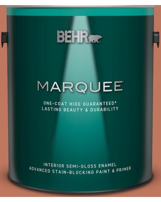 BEHR MARQUEE 1 gal. #210D-6 Caribbean Coral Semi-Gloss Enamel Interior Paint and Primer in One
