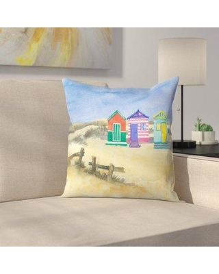 East Urban Home Beach Huts Throw Pillow Ethf2696 Size 16