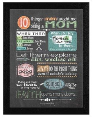 Find The Best Deals On Trendy Decor 4u Reminders From Mom Framed Textual Art Paper In Brown Green White Size Small 18 24 Wayfair Tlc353 276