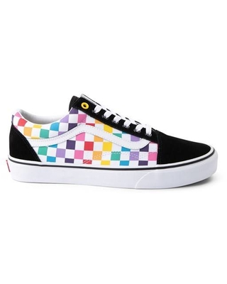 Vans Vans Old Skool Rainbow Checkerboard Skate Shoe Multi from Journeys | ShapeShop