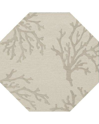 Rosecliff Heights Hiltonia Machine Woven Wool Gray Area Rug W001587222 Rug Size: Octagon 4'