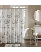 Shower Curtain Leaf Gray, Shower Curtain