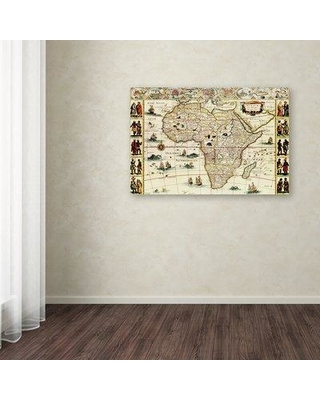 "Trademark Fine Art 'Map 19' Graphic Art Print on Canvas ALI8472-C Size: 16"" H x 24"" W x 2"" D"