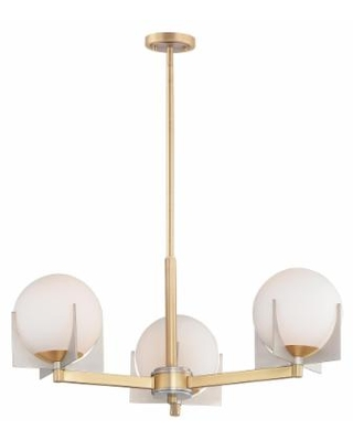 Maxim Lighting Finn 22 Inch 3 Light Chandelier - 32473SWSBRBP